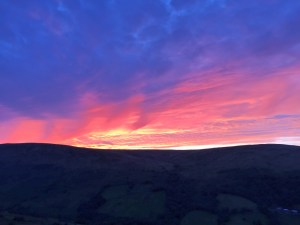 Lovely Sunset from the car park at Fan Nedd