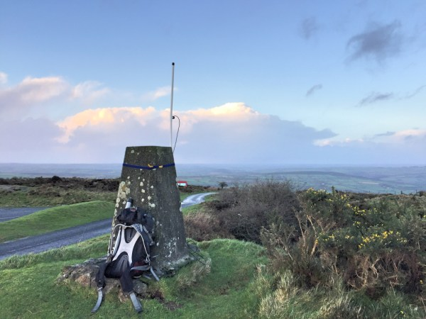 2m Vertical strapped to Trig point