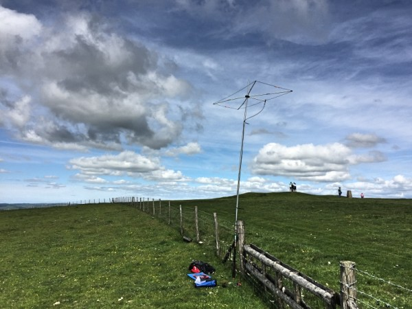 6m Moxon setup on Firle Beacon