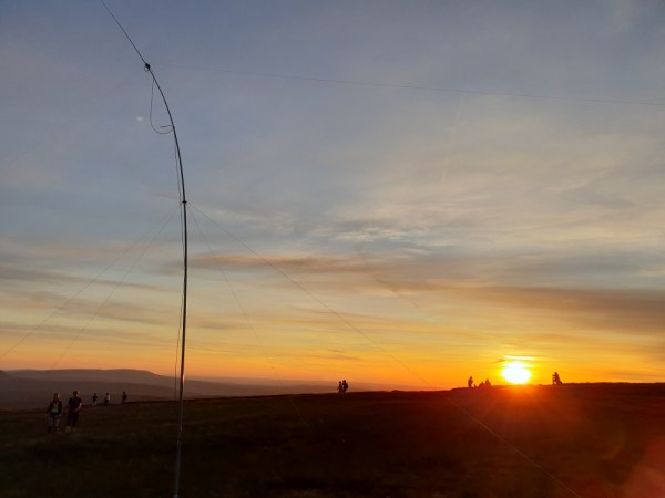 Mast at sunset from the summit