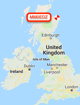 Location of MM0EDZ, while I was operating just west of London