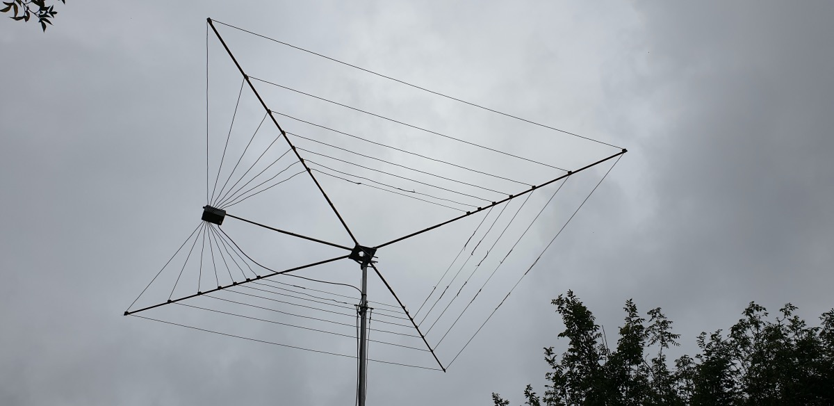 The finished Cobweb in the air