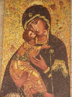 Мозаичная копия Владимирской иконы Божьей Матери
