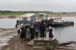 Переправа через Пинегу по пути из Карпогор в Суру