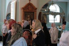 На богослужении в Свято-Иоанновском монастыре