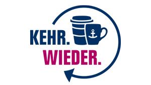 kehr.wieder hamburg logo coffee-to-go einwegbecher - urheberrechte stadt hamburg