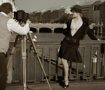 Fotosession in den 20ern