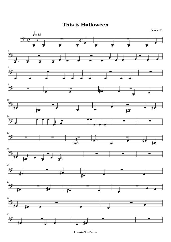 this is halloween sheet music score hamienet com
