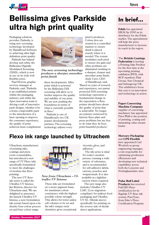 Bellissima give Parkside Flexibles ultra high print quality - Flexo - FlexoTech