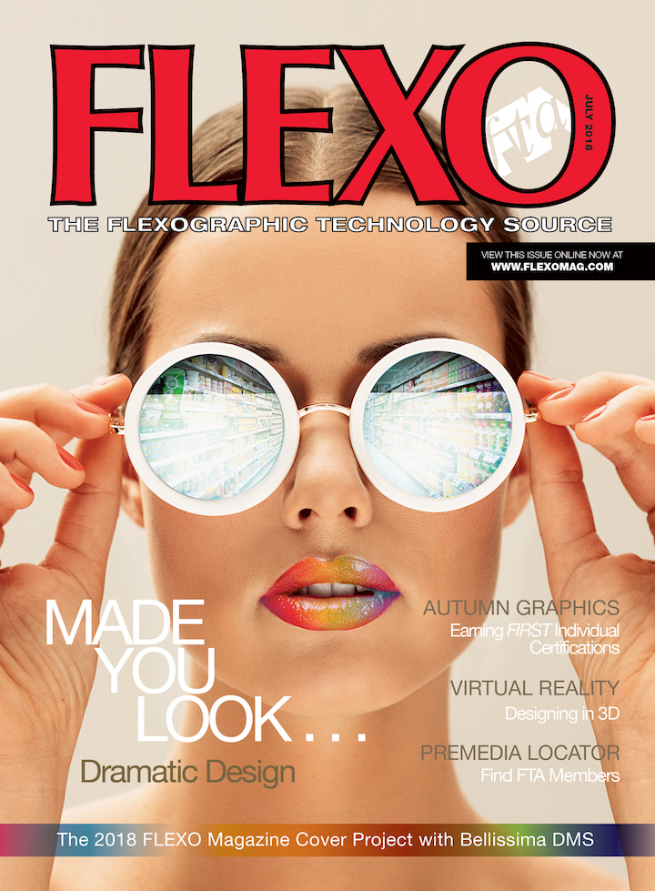 The 2018 FLEXO Magazine Cover Project Used Design & Software to Push Flexography Past Offset & Gravure
