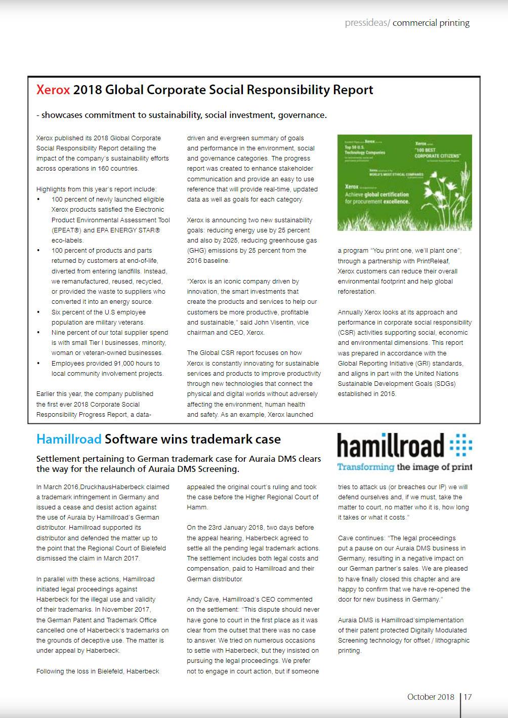 Hamillroad Software wins trademark case