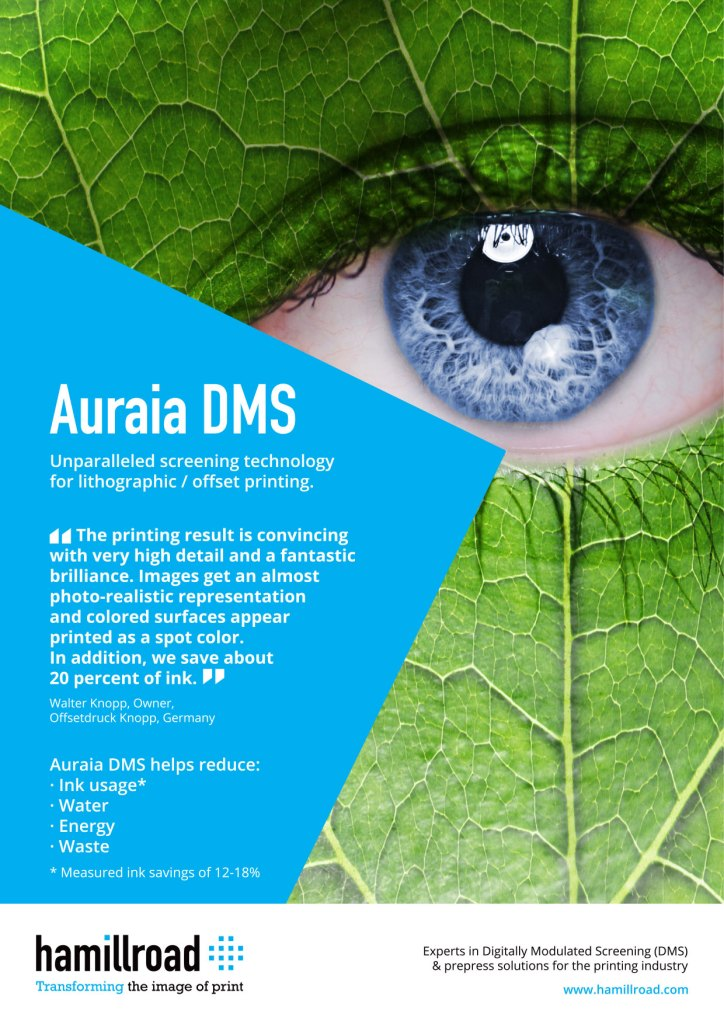 Print Solutions featuring Hamillroad Auraia Digitally Modulated Screening for High-Quality Offset Litho Printing