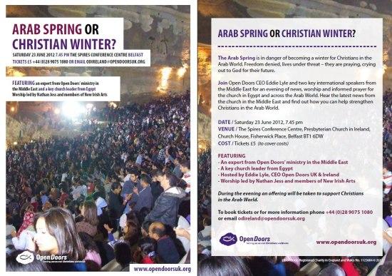 Arab Spring or Christian Winter