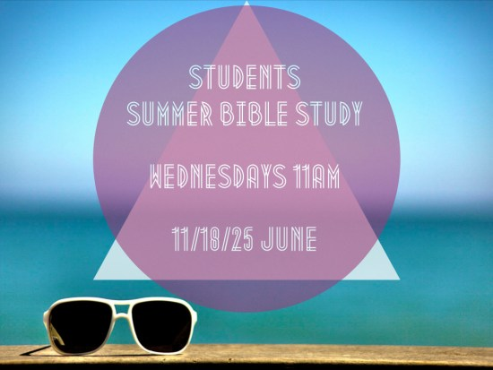 Student Summer Bible Study.001