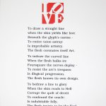 The Book of Love Poem (To Draw a Straight Line), 1996