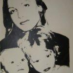 Corine Arslanian And Her Children, [IIIC.16], 1977