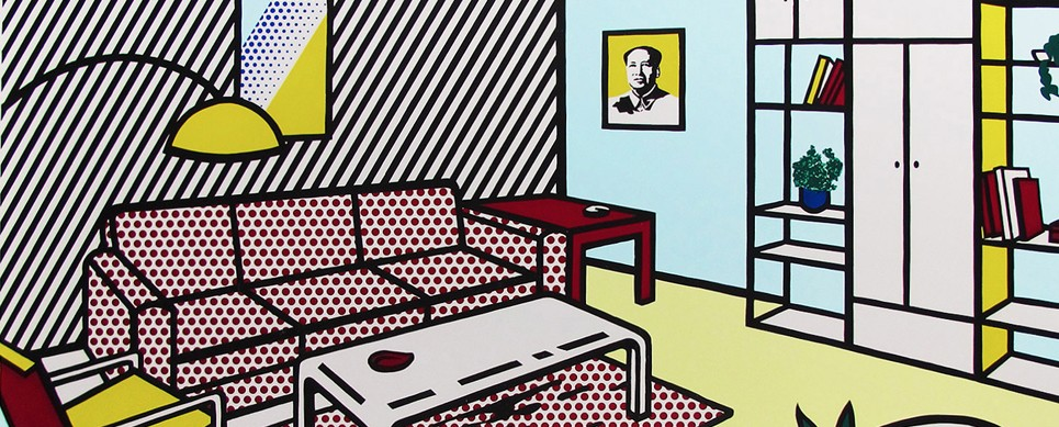 Roy Lichtenstein, Modern Room, Screenprint, Pop Art, Warhol, Mao