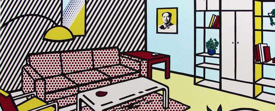 Roy Lichtenstein, Modern Room, Screenprint, Pop Art, Warhol, Mao