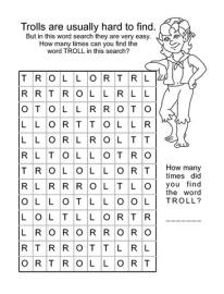 word search troll