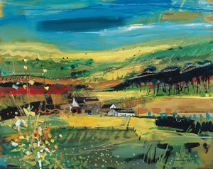 Painting of Southbank Farm on the Scottish Island of Arran by artist Hamish MacDonald