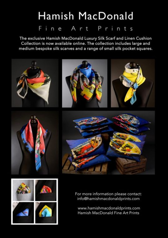 Luxury Silk Scarf and Linen Cushion Collection now available