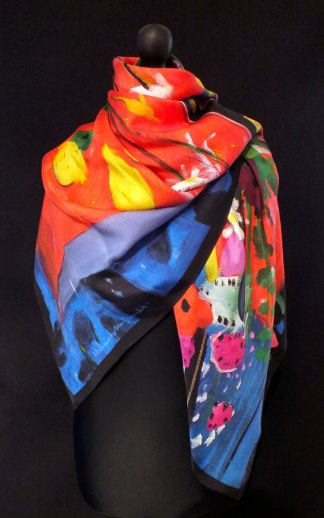 New 'Red Table Top' Silk Scarf