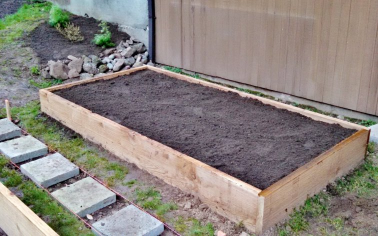 New raised bed ready for gardening