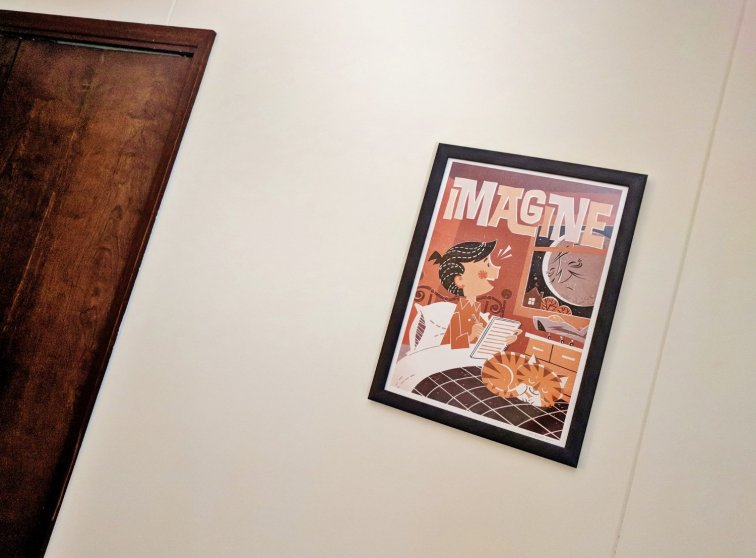 Retro art for guest room