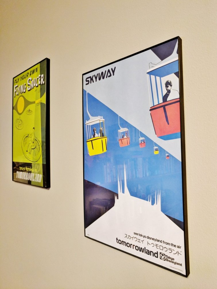 Retro Disney posters for a mid-century modern office