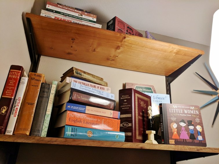 DIY mid-century modern bookshelves