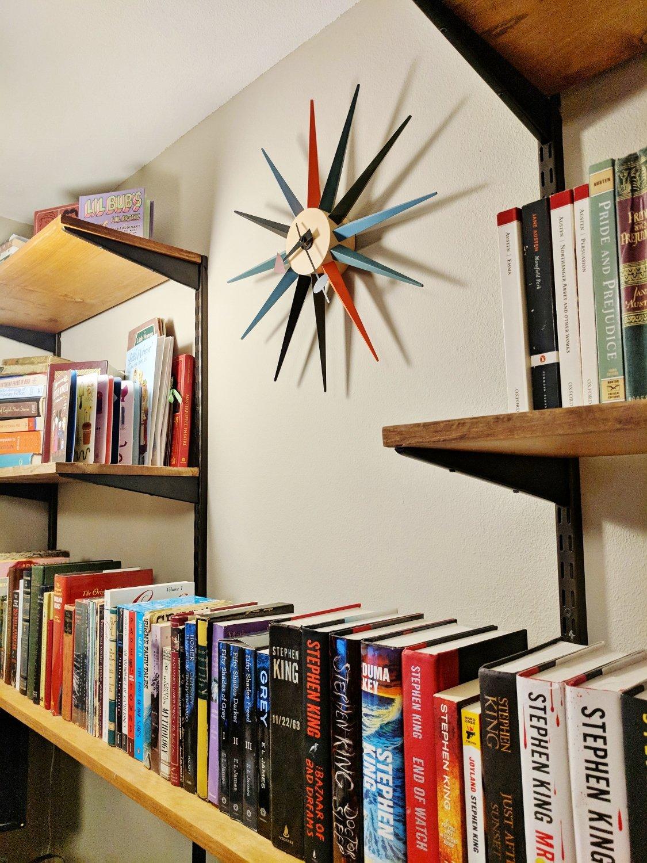 Build Your Own Mid-Century Modern Shelving Unit: Final shelving unit