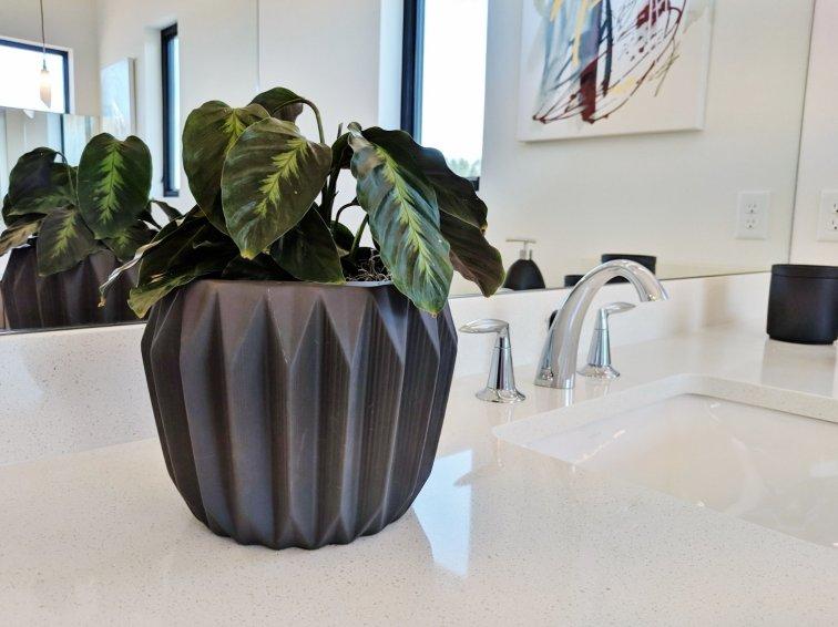 Modern planter at Street of Dreams