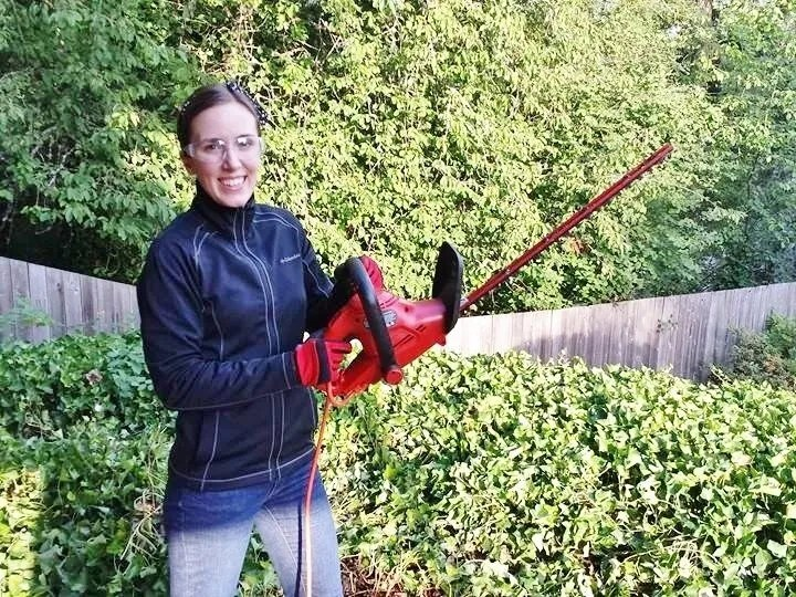 Don't try to remove massive amounts of ivy with just a hedge trimmer