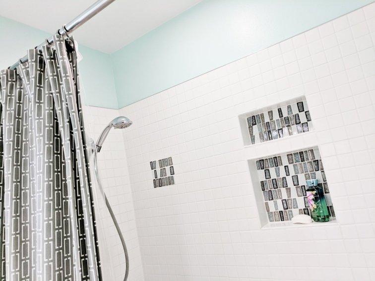 Modern Shower Tile for a Mid-Century Bathroom