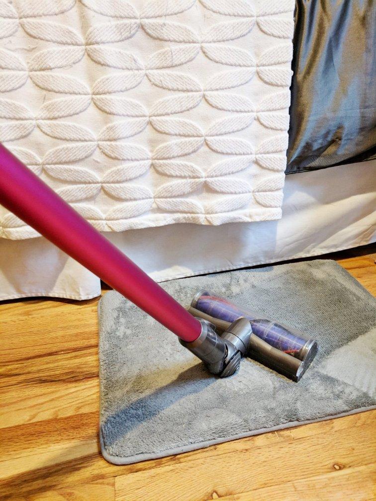 Using Dyson handheld vacuum