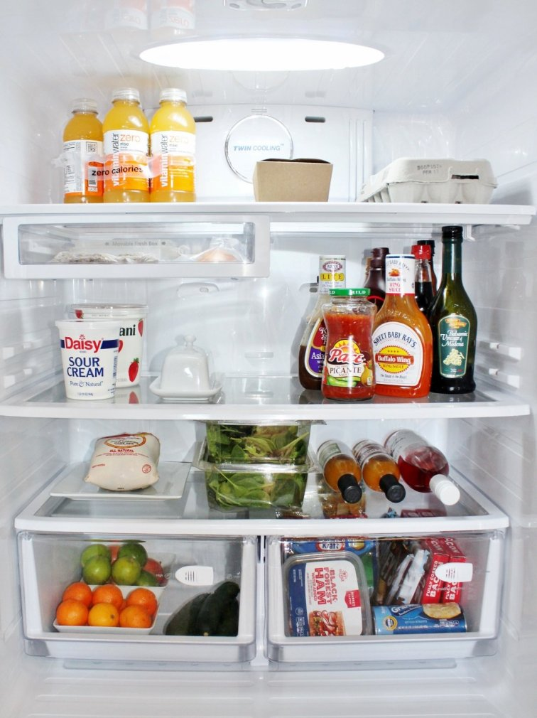 Fridge decluttering and organization