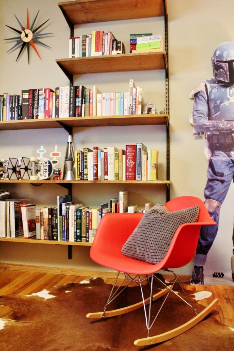 Use an Eames style rocking chair in your reading corner