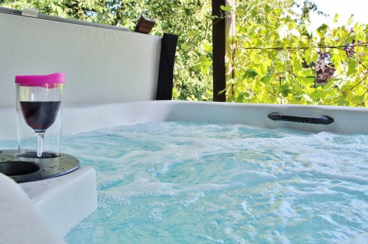 Using landscaping to create privacy around your hot tub