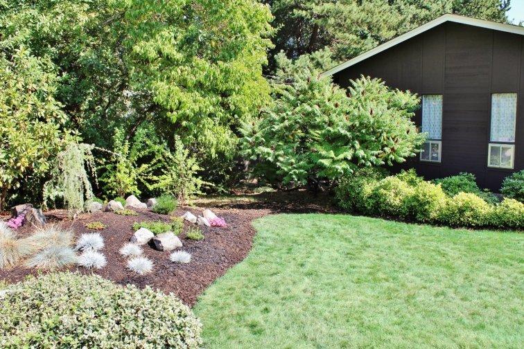 Modern landscape berm mound for the garden