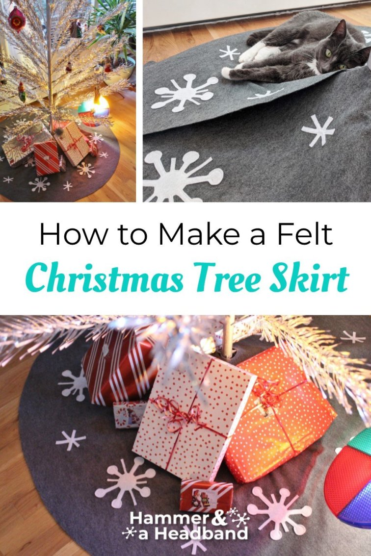 How to make a felt Christmas tree skirt