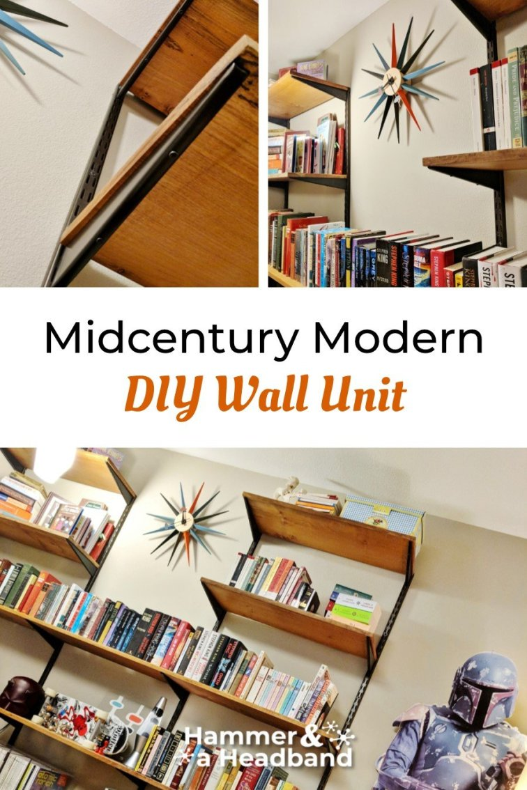 Midcentury modern DIY wall unit