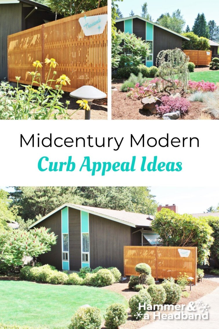 Mid-century modern curb appeal ideas