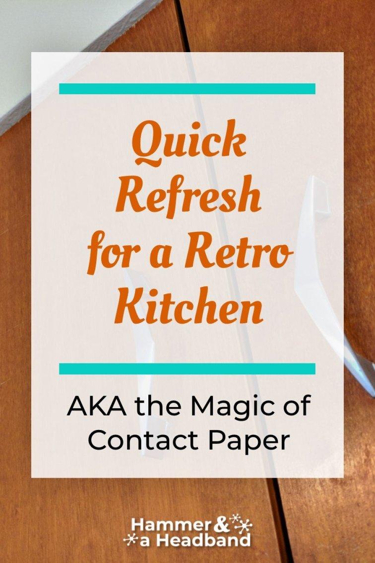 Quick refresh for a retro kitchen