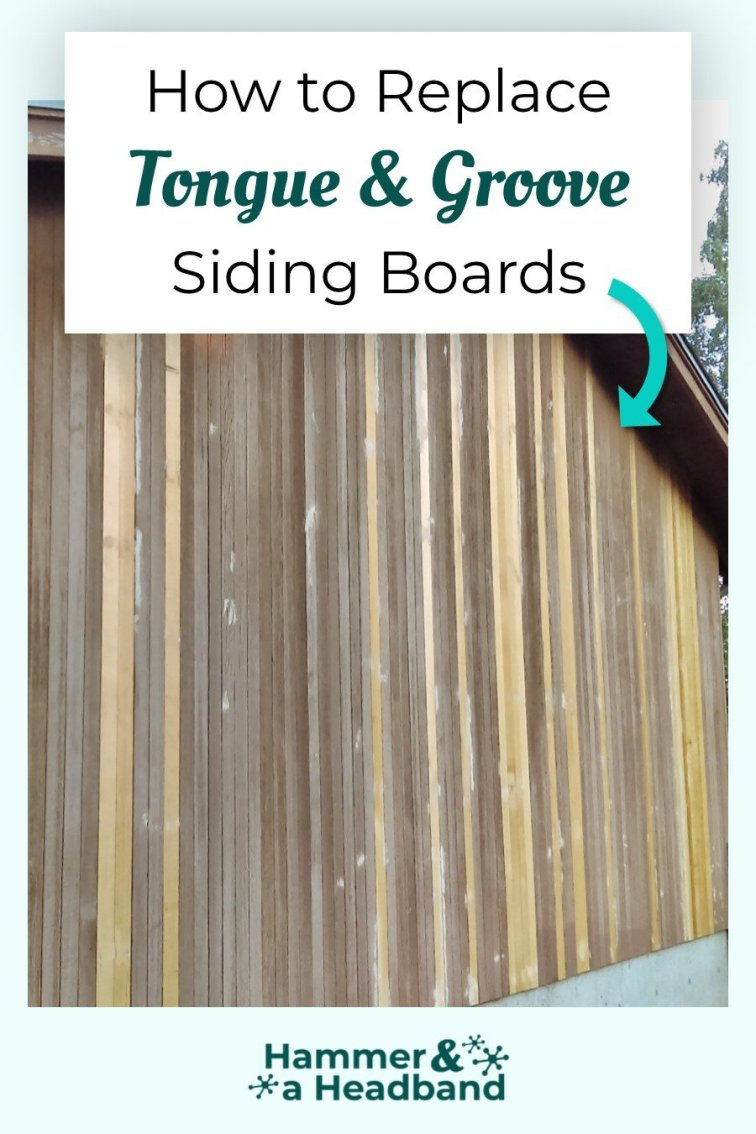 How to replace tongue and groove siding boards