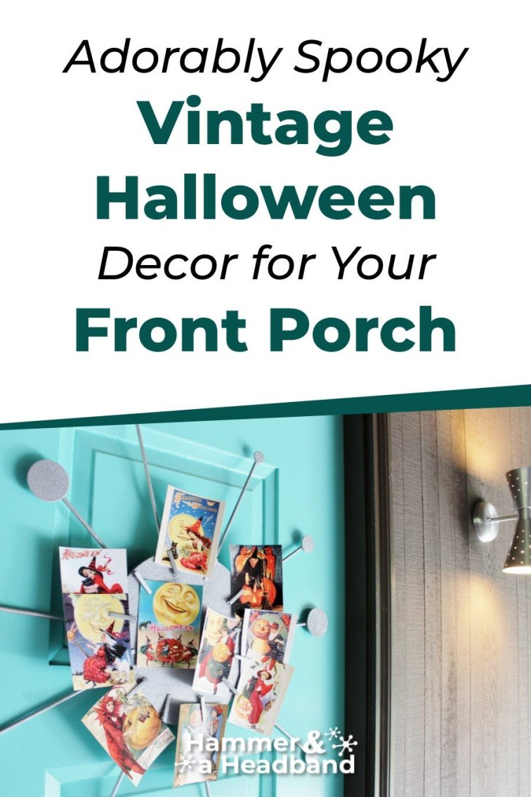 Adorably spooky vintage Halloween decor for a front porch