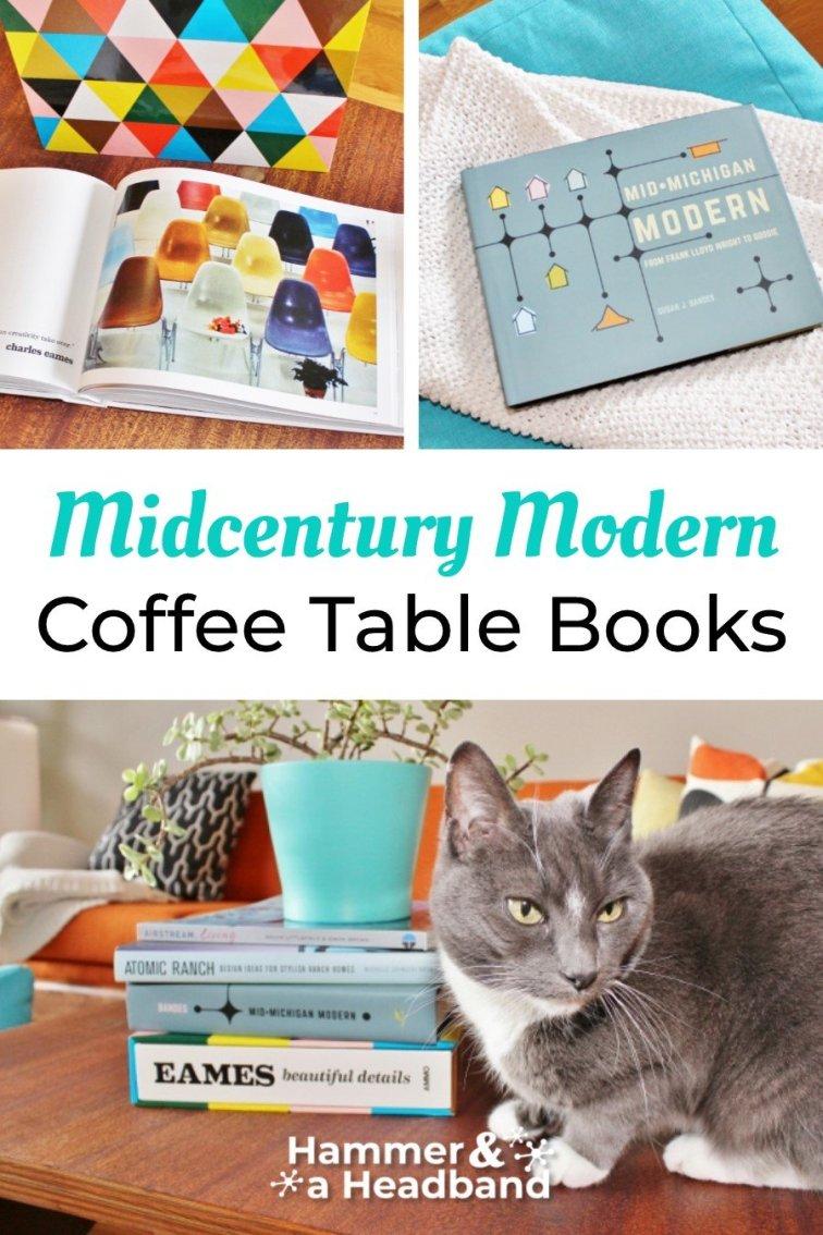 Mid-century modern coffee table books