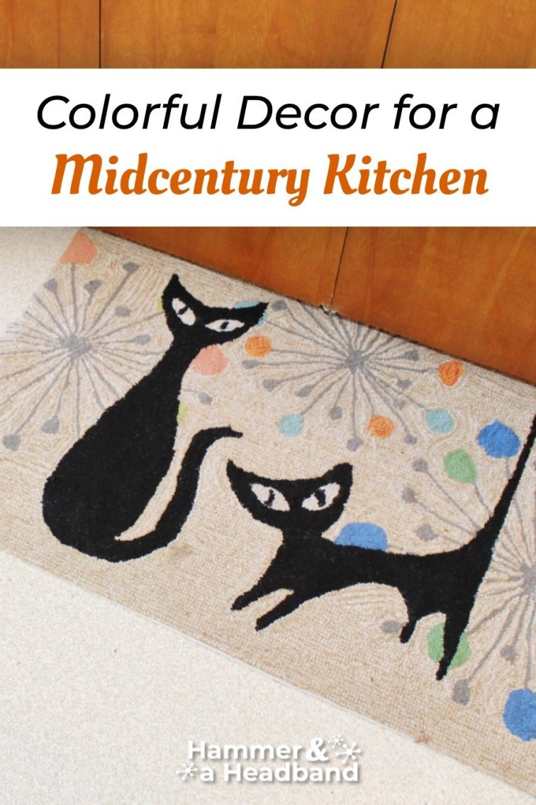 Colorful decor for a mid-century modern kitchen