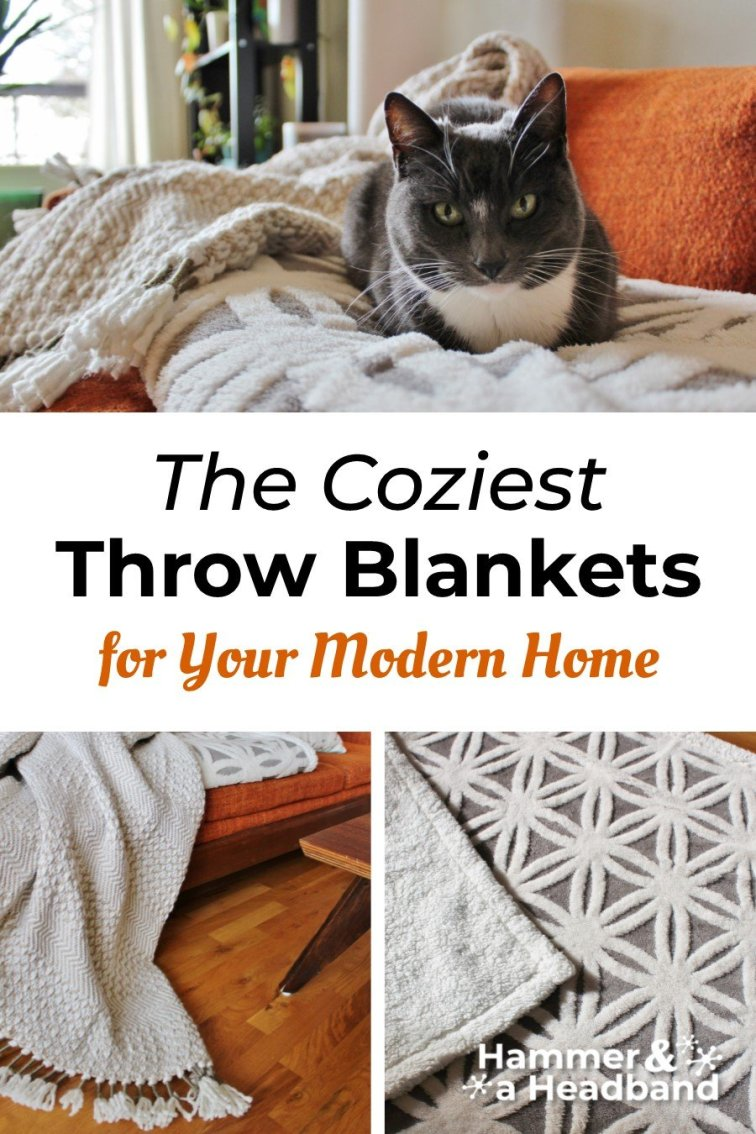 The coziest throw blankets for a mid-century modern home