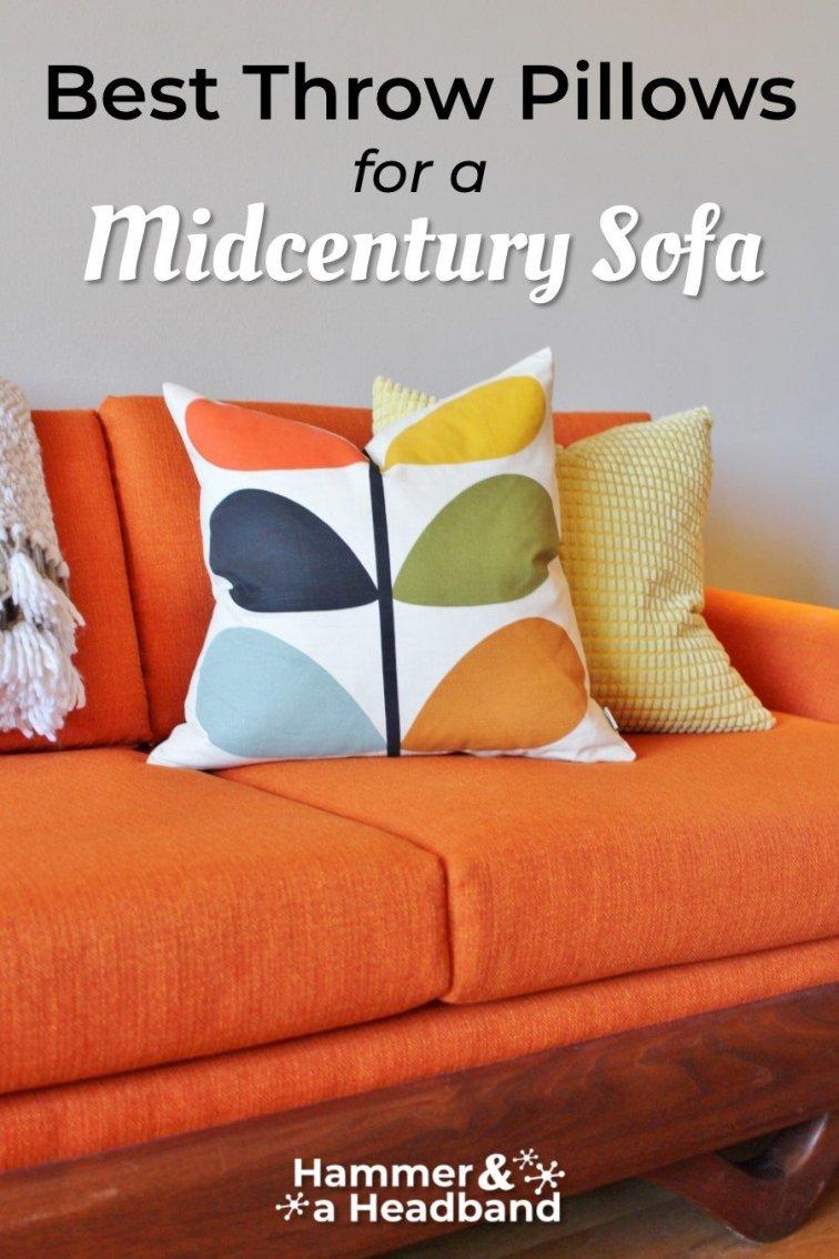 Best throw pillows for a mid-century modern sofa