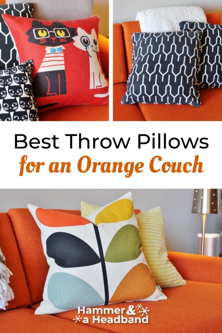 Best modern throw pillows for an orange couch